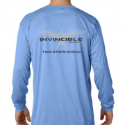 Invincible Boats Light Blue Long Sleeve Dry Fit-Back