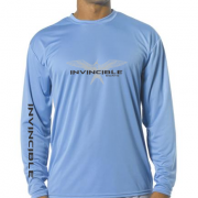 Invincible Boats Light Blue Long Sleeve Dry Fit-Front