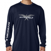 Invincible Boats Navy Long Sleeve Dry Fit-Front