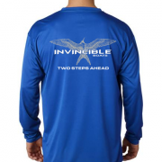 Invincible Boats Cobalt Blue Long Sleeve Dry Fit-Back
