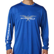 Invincible Boats Cobalt Blue Long Sleeve Dry Fit-Front