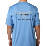 Invincible Boats Light Blue Short Sleeve Dry Fit-Back
