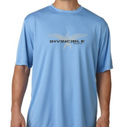 Invincible Boats Light Blue Short Sleeve Dry Fit-Front