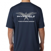 Invincible Boats Navy Blue Short Sleeve Dry Fit-Back