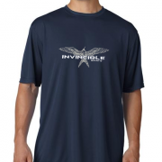 Invincible Boats Navy Blue Short Sleeve Dry Fit-Front