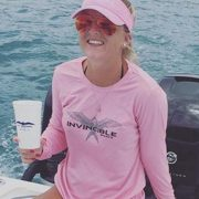 Invincible Boats Pink Microfiber Long Sleeve Shirt