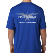 Invincible Boats Cobalt Blue Short Sleeve Dry Fit-Back