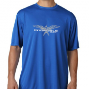 Invincible Boats Cobalt Blue Short Sleeve Dry Fit-Front