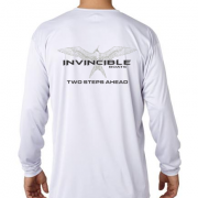 Invincible Boats White Long Sleeve Dry Fit-Back