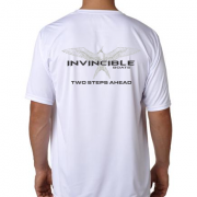 Invincible Boats White Short Sleeve Dry Fit-Back