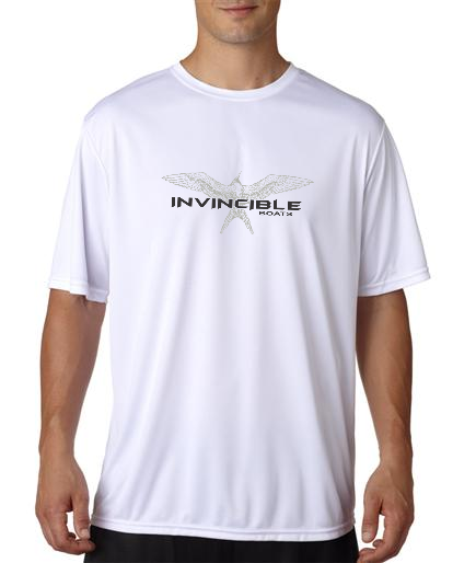 Invincible Boats White Short Sleeve Dry Fit-Front