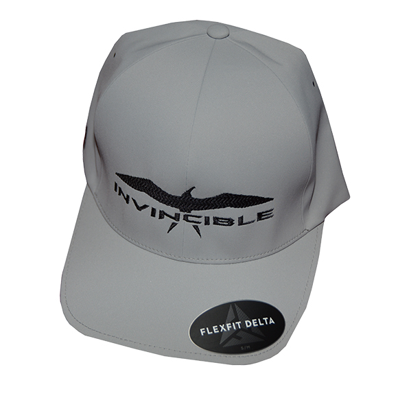 Invincible Boats Flexfit Delta Hat Grey-Front