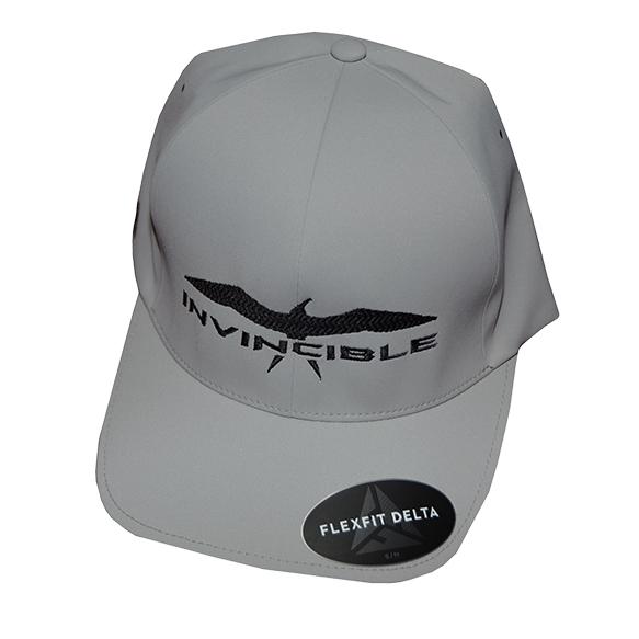 Invincible Boats Flexfit Delta Hat Grey-Front