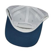 Invincible Boats Snapback Hat Blue White-Back
