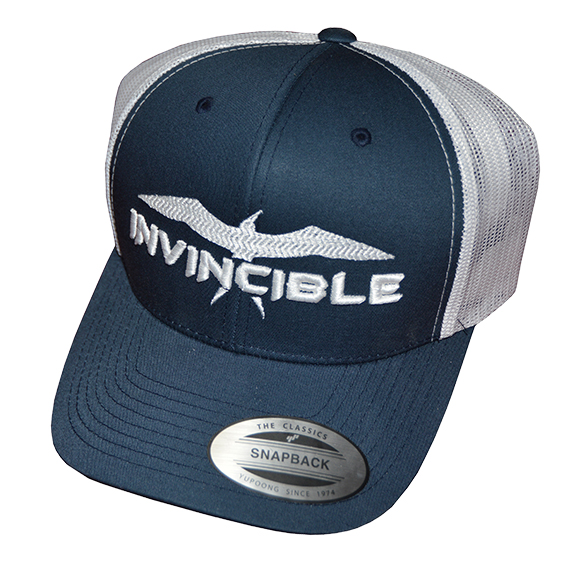 Invincible Boats Snapback Hat Blue White-Front