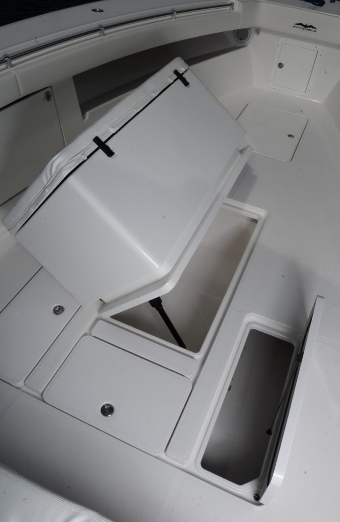 The world class 42 39 center cabin invincible boat for Fish box for boat