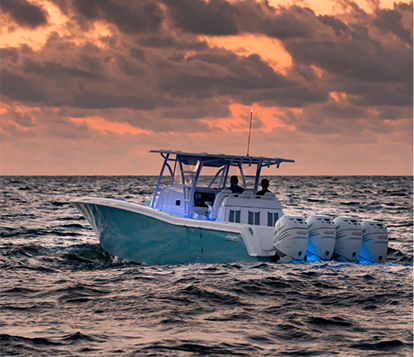 Invincible's luxurious center console boat with cabin built for next-level offshore fishing & comfort.