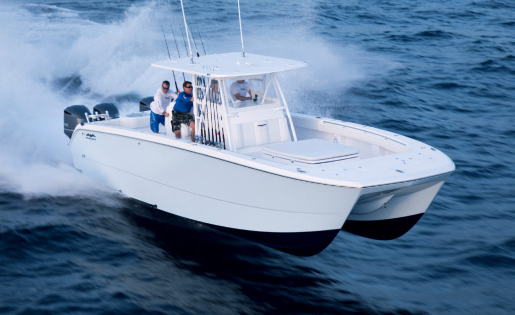 Beautifully crafted luxury boats for sale invincible boats for Catamaran fishing boats for sale