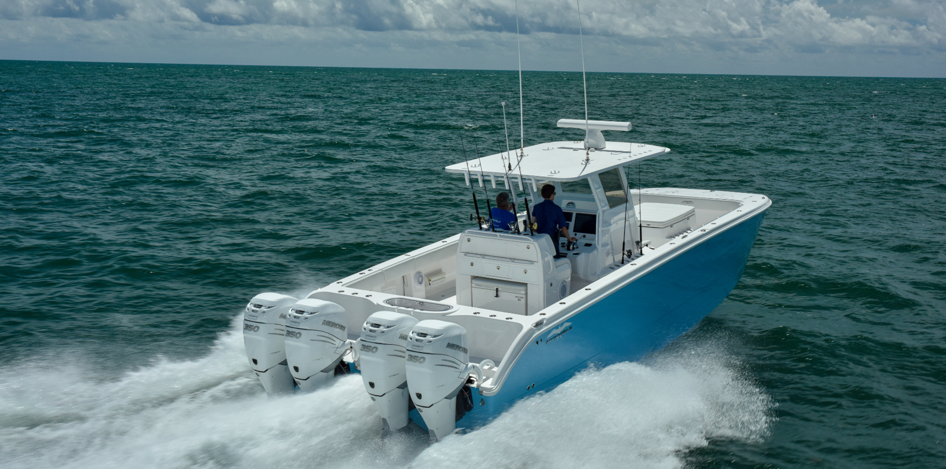 360 degree walk-around fishability on the 37 ft. Catamaran by Invincible Boats.