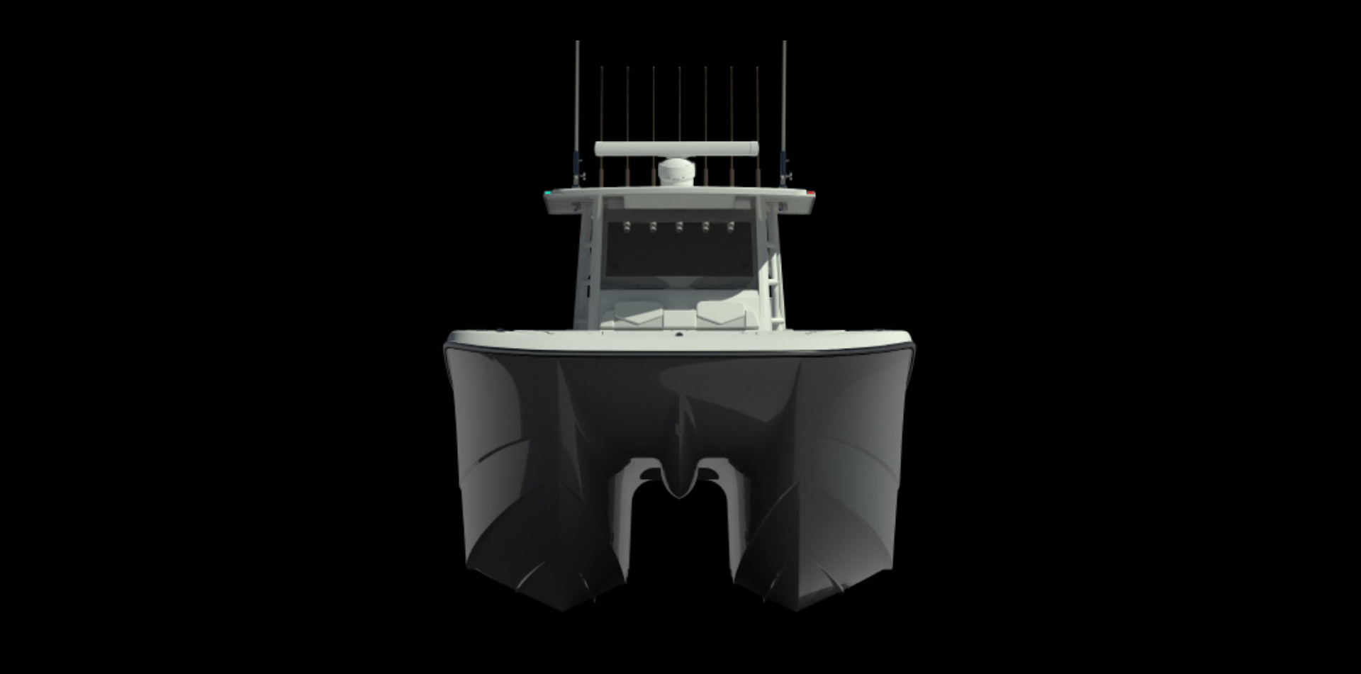 Unprecedented hull design by Invincible Boats: all new 46 ft. Catamaran.