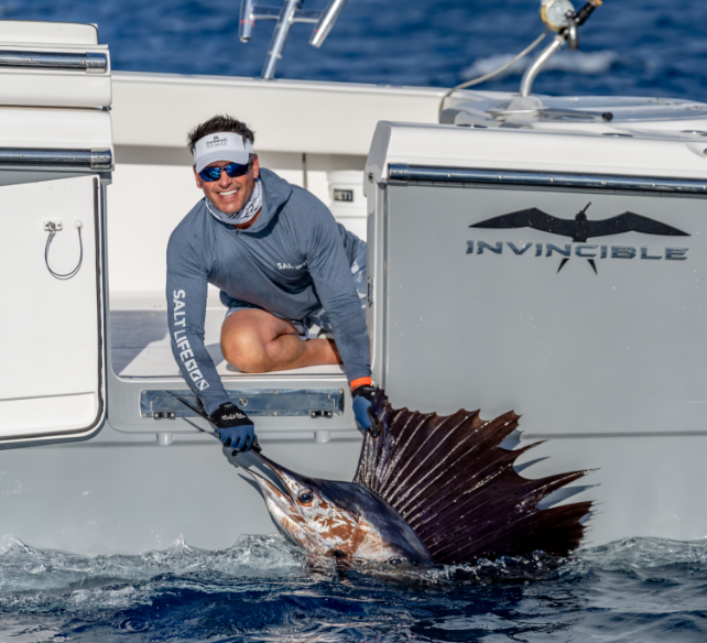 Peter Miller fishing - recently caught Sailfish.