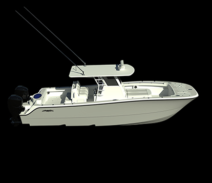 Exceptional hull design for the newest catamaran 33' by Invincible.
